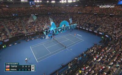 Ostatnia piłka meczu Nadal - Tiafoe w ćwierćfinale Australian Open