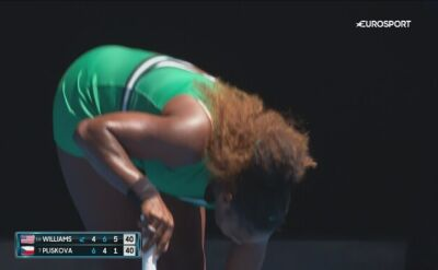 Serena Williams doznała podczas meczu urazu