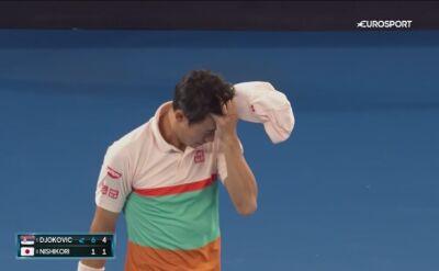 Krecz Keia Nishikoriego w ćwierćfinale Australian Open