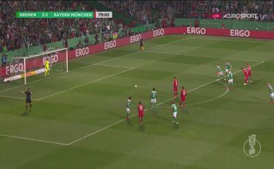 Gol Lewandowskiego z rzutu karnego przeciwko Werderowi