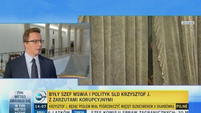 Dariusz Joński o zarzutach dla Krzysztofa Janika