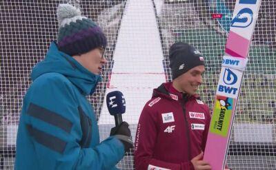 Piotr Żyła po kwalifikacjach w Innsbrucku