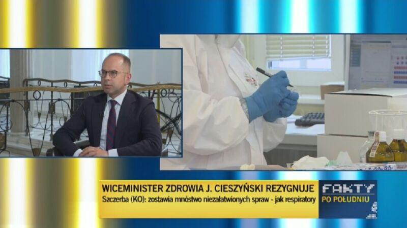 """Szczerba: otrzymywałem informację, że robi się """"gorąco"""" wokół wiceministra Cieszyńskiego"""