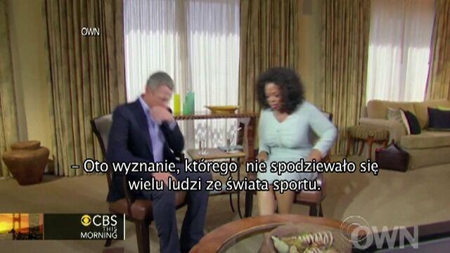 Co Armstrong powiedział u Oprah Winfrey?