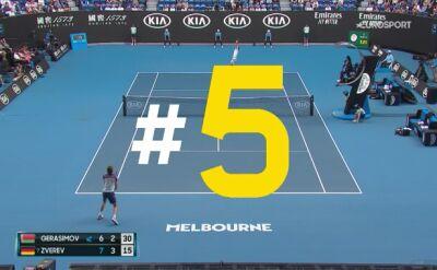 TOP 5 akcji 12. dnia Australian Open