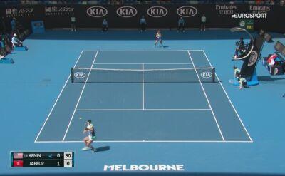 Skrót meczu Kenin - Jabeur w 1/4 finału Australian Open