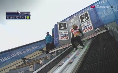 Skok Ryoyu Kobayashiego w 2. serii konkursu w Garmisch-Partenkirchen