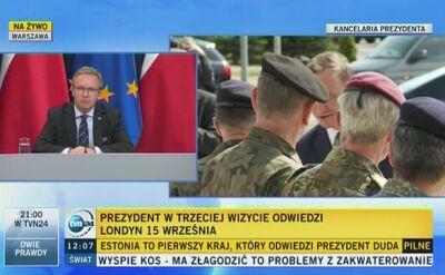 Plan zagranicznych wizyt prezydenta