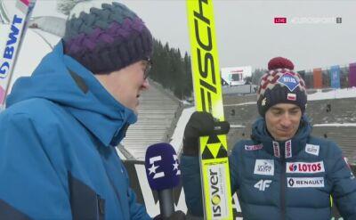 Kamil Stoch po konkursie drużynowym w Oslo