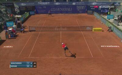 Ostatni piłka meczu Chaczanow - Novak w turnieju Thiem's 7