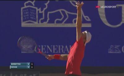 Pierwszy set dla Matteo Berrettiniego w meczu z Dennisem Novakiem
