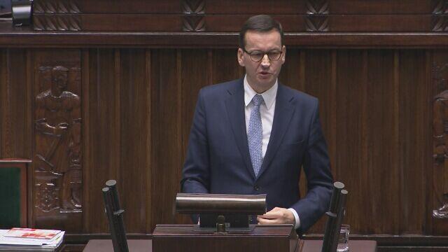 Morawiecki o budżecie i propozycji zniesienia limitu 30-krotności składek na ZUS