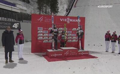 Ceremonia po zwycięstwie Kamila Stocha w Lahti