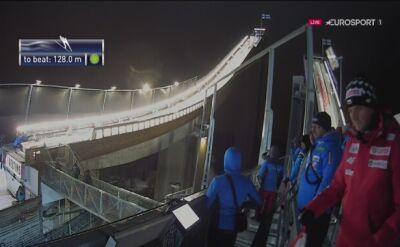 Skok Dawida Kubackiego z 2. serii niedzielnego konkursu w Lahti