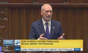 Przegłosowano ustawę powołującą Wojska Obrony Terytorialnej
