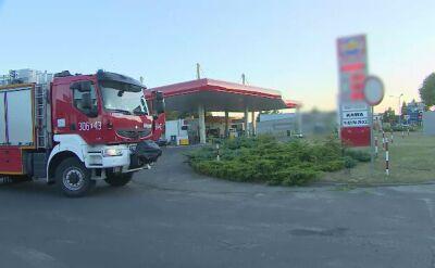 Pożar na stacji paliw w Janikowie