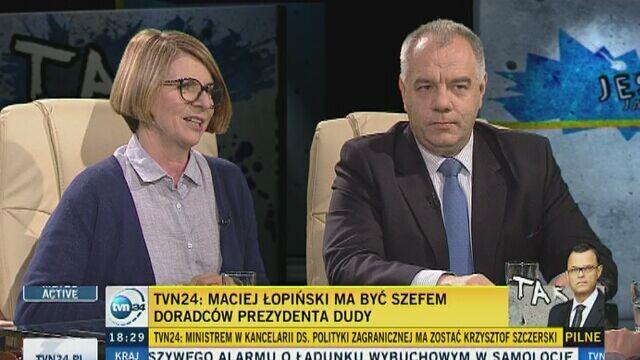 TVN24: Sadurska, Łopiński, Szczerski i Kwiatkowski w kancelarii prezydenta Dudy