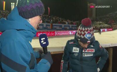Kamil Stoch po sobotnim konkursie w Willingen