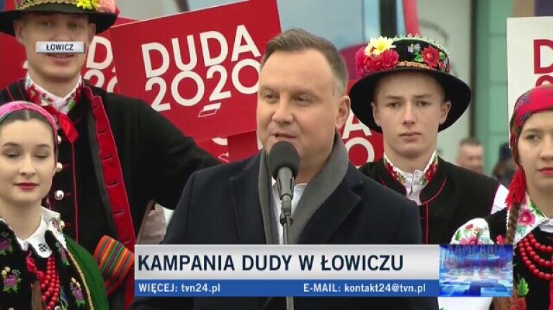 Andrzej Duda na spotkaniu w Łowiczu