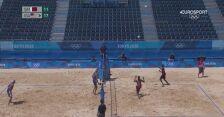 Tokio. Siatkówka plażowa: skrót meczu Katar - USA