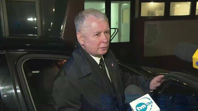 Jarosław Kaczyński nie chciałrozmawiać z dziennikarzami