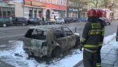 Volkswagen spłonął doszczętnie