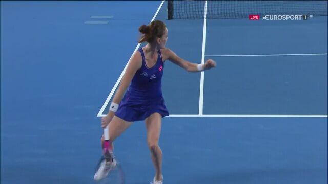 Hot shot Radwańskiej na Australian Open 2017