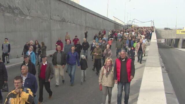 Tłumy na dniu otwartym tunelu pod Martwą Wisłą