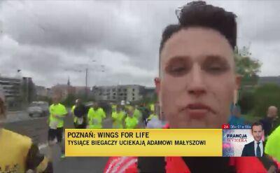 Adrian Mielnik założył sobie przebiegnięcie dystansu półmaratonu