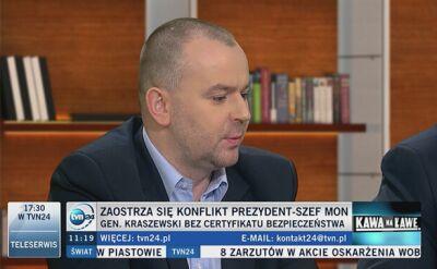 Prezydencki minister: generał Kraszewski nie zgadza się z decyzją SKW