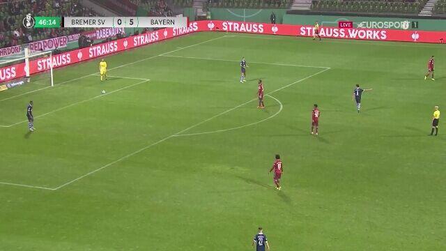 Puchar Niemiec. Bremer SV - Bayern Monachium 0:6 (gol Tillman)