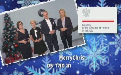 """""""To była długa podróż"""". Świąteczne życzenia ambasady w Izraelu"""