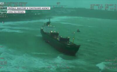 Rosyjski statek utknął u wybrzeży Wielkiej Brytanii