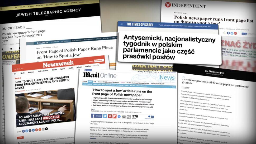 """""""Część prasówki dla posłów"""". Zagraniczne media o antysemickiej gazecie w polskim Sejmie"""