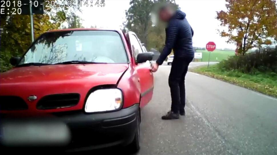 Obywatelskie zatrzymanie koło Olsztyna. Kierowca wydmuchał prawie 2 promile