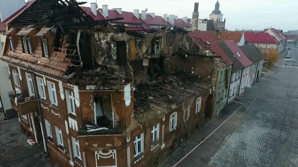 Eksplozja i pożar w Mieszkowicach. Osiem rodzin straciło swoje domy