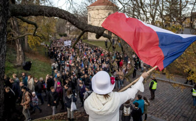 Antyrządowy protest w 30. rocznicę aksamitnej rewolucji