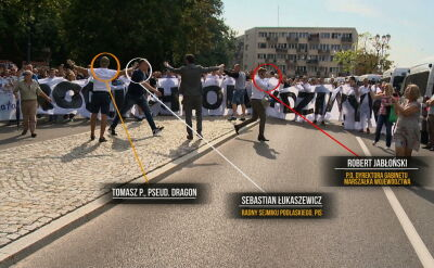 """Szef kiboli, obok działacze PiS. """"Było widać, że są na czele tej grupy"""""""