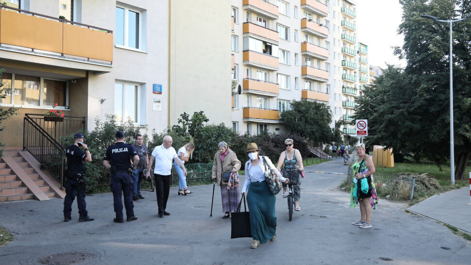 Wielka ewakuacja na warszawskim Bródnie. Domy musiało opuścić 1,5 tysiąca osób