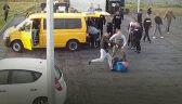 Chuligani zaatakowali kibiców przeciwnej drużyny. Bitwę sfilmowały kamery autostrady