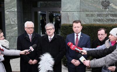 Szef BBN: Polska jest w stałym kontakcie z innymi członkami NATO