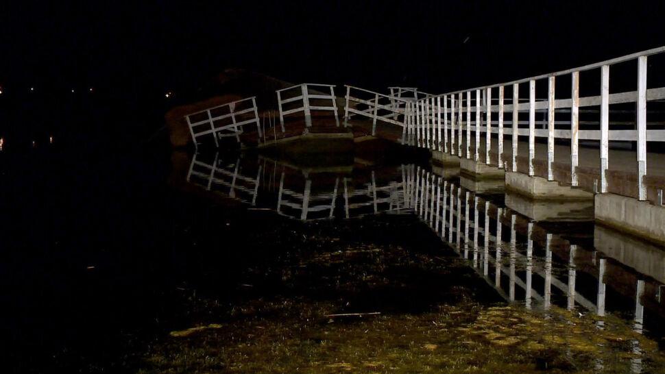 Wypadek w Siemiatyczach. Na zalewie zawaliło się molo