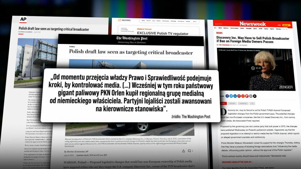 """""""TVN24 od dawna irytuje PiS"""". Światowe media komentują ustawę anty-TVN"""