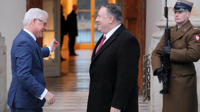 W przeddzień konferencji bliskowschodniej spotkanie Pompeo z Czaputowiczem