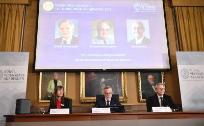 Nagroda Nobla w dziedzinie chemii przyznana za badania nad bateriami litowo-jonowymi