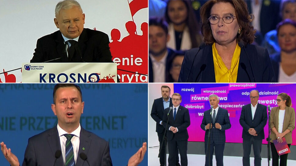 Polityczna niedziela. Liderzy partyjni na konwencjach wyborczych