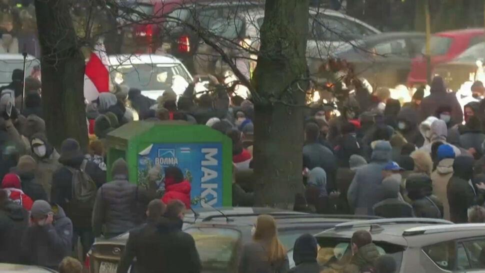 Białoruska opozycja nie ustępuje. W niedzielę służby zatrzymały ponad 1100 osób
