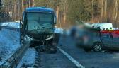 Wypadek z udziałem autobusu wiozącego dzieci