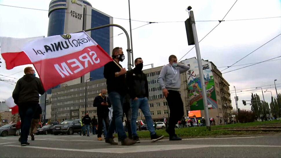 Blokady dróg i utrudnienia w ruchu. Rolnicy protestowali w Warszawie