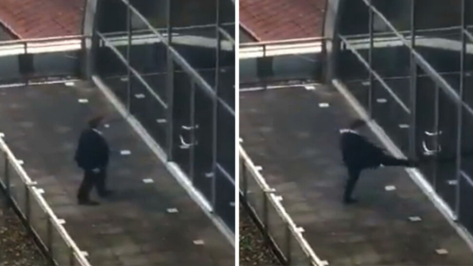 Nerwowa reakcja europosła PiS, uwięzionego na balkonie europarlamentu